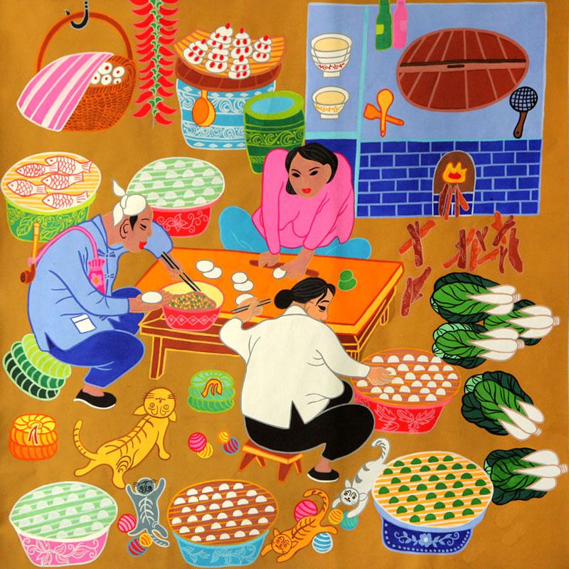 2018年辛集农民画赴俄罗斯、比利时作品欣赏